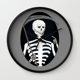 Reaper Gothic Death Tarot Card Medieval Skeleton Art Print Wall Clock