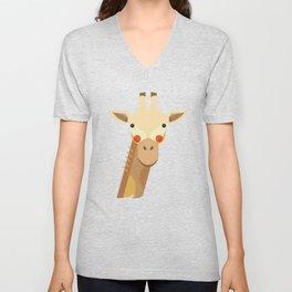 Giraffe, Animal Portrait Unisex V-Neck
