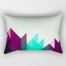 Purple Peaks Rectangular Pillow