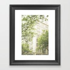 green in the grey Framed Art Print