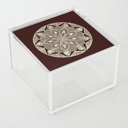 Maroon Mandala Acrylic Box