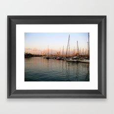 Docked Framed Art Print