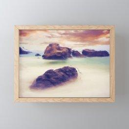 Floating stones Framed Mini Art Print