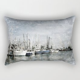 Shrimp Boats at the Pass Harbor Rectangular Pillow