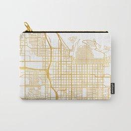 SALT LAKE CITY UTAH CITY STREET MAP ART Carry-All Pouch