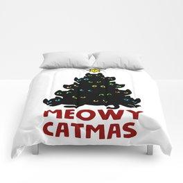 Meowy Catmas Cat Christmas Tree Comforters