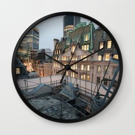 London, The City Wall Clock