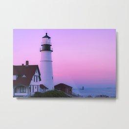 Summer Lighthouse Metal Print