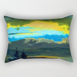 Frederic Edwin Church Sunset Across the Hudson Valley Rectangular Pillow