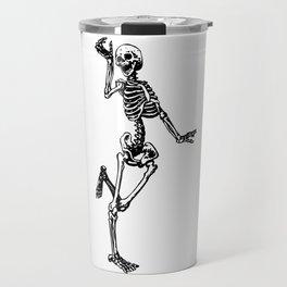 Dancing Skeleton Travel Mug