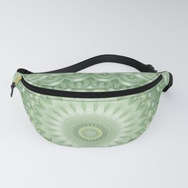 Spring Mandala in Green, Yellow and White Fanny Pack