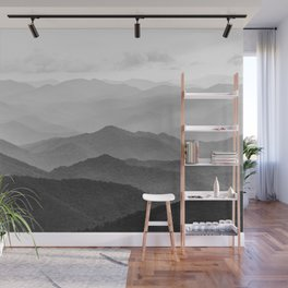 Forest Fade - Black and White Landscape Nature Photography Wall Mural