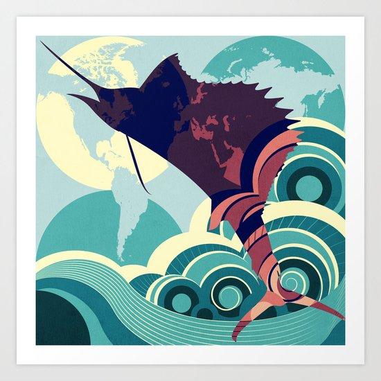 Seven Seas Explorer  Art Print