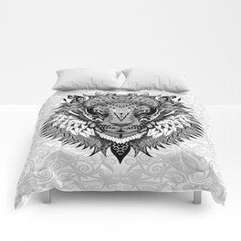 lion aztec art pattern Comforters