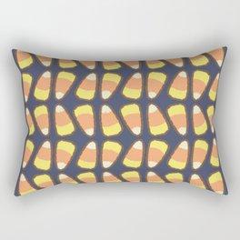 Candy Corn Tango in Navy Rectangular Pillow