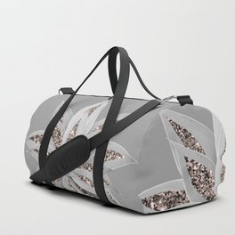 Gray Agave with Rose Gold Glitter #1 #shiny #tropical #decor #art #society6 Duffle Bag