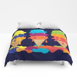 Colorful Ice Cream  Comforters