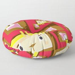 Cute Sun Wukong The Monkey King Pattern Floor Pillow