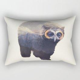 Owlbear in Mountains Rectangular Pillow