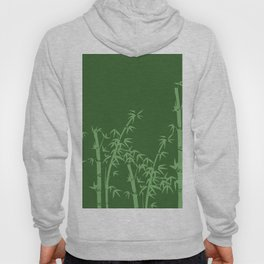 Bamboo design green all Hoody