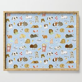 Guinea Pig Party! - Cavy Cuddles and Rodent Romance Serving Tray