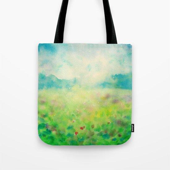 Green & Blue Mystical Spring Tote Bag