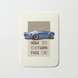 The Classic Game Cheat Code: How do you turn this on Funny Blue Cobra Car Bath Mat