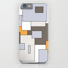 Squares - gray, orange and white. iPhone 6s Slim Case
