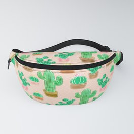 Potted Cactus & Pink Drawing Fanny Pack