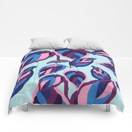 manzanita, fall leaves blue Comforters