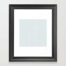 PATTERN: BLUE WAVE LINES Framed Art Print