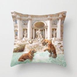 Fontana Di Trevi Throw Pillow