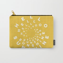 Hello Sunshine #minimal #typography #summervibes Carry-All Pouch