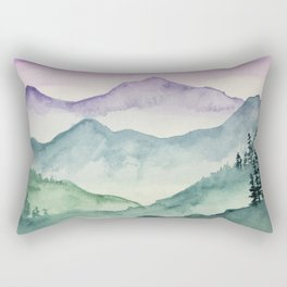 Hills and Valleys Rectangular Pillow
