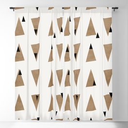 Triangles(Gold and Black) Blackout Curtain