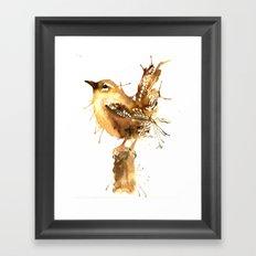 Mr Wren Framed Art Print