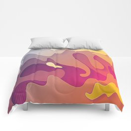 ether fluid | Psychedelic abstract Comforters