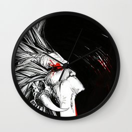 Silent Scream echoing into darkness Wall Clock