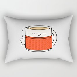 Keep warm, drink tea! Rectangular Pillow