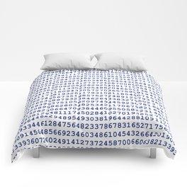Pi // Dark Blue Comforters