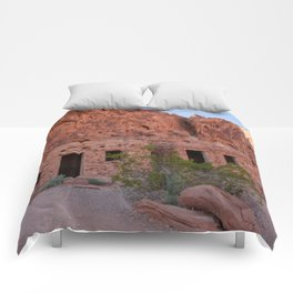 CCC Cabins-1, Valley of Fire State Park, Nevada Comforters