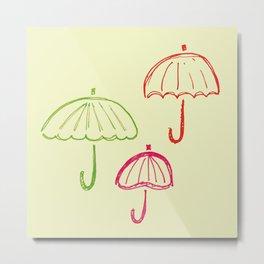 Happy Umbrella Metal Print
