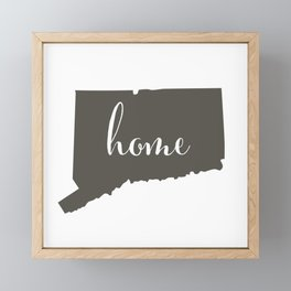 Connecticut is Home Framed Mini Art Print
