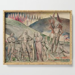 William Blake - The schismatics and sowers of discord- Mahomet Serving Tray