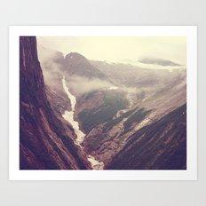 Alaska mountains - Tracy Arm Art Print