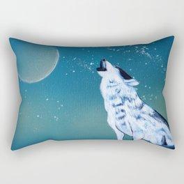 Wolf painting Rectangular Pillow