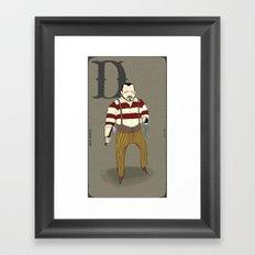 D is for.. Framed Art Print