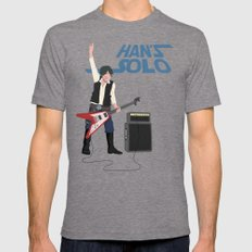 Han's Solo Mens Fitted Tee Tri-Grey MEDIUM