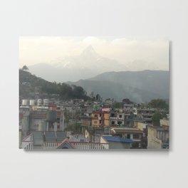 Annapurna from the City - Pokhara, Nepal Metal Print