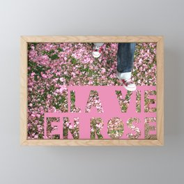La vie en rose Framed Mini Art Print